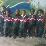 Tracksuits for children of Lourier Primary, February 2013